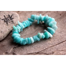 Armband, splitter - Amazonite