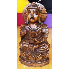 Buddha Vitarka, wood carving 20,5 cm