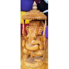 Ganesha, houtsnijwerk 30cm
