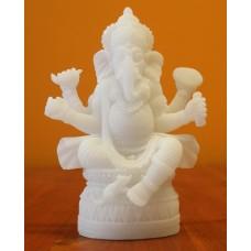 Ganesha, wit - 17cm