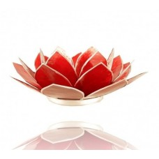 Lotus Chakra candle holder Ruby / Red