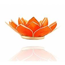 Lotus Chakra candle holder Amber / Orange