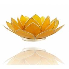 Lotus Chakra candle holder Lemon / Yellow
