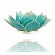 Lotus Chakra candle holder Aquamarine / Blue