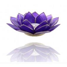 Lotus Chakra candle holder Indigo / Dark Blue