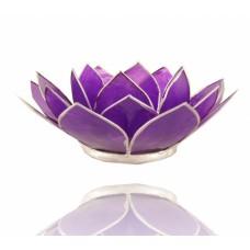 Lotus Chakra candle holder Amethyst / Purple
