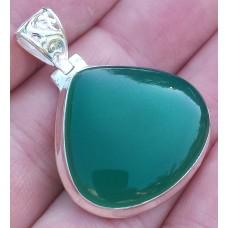 Green Onyx pendant droplet