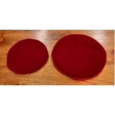 Singing Bowl cushion large - red, Ø 20cm