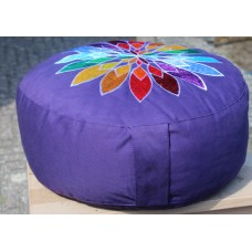 Meditation cushion, Color Flower - purple