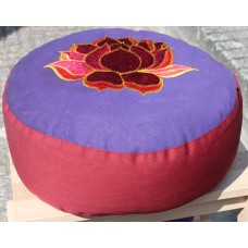 Meditation cushion, Lotus - purple / red