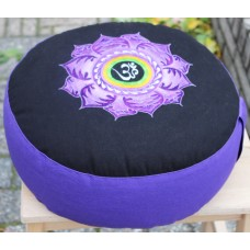 Meditation cushion, Lotus with Ohm