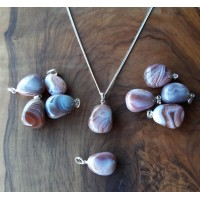 Health pendant - Agate, pink