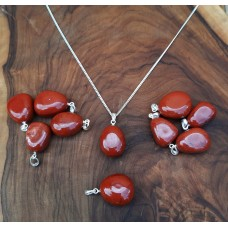 Health pendant - Jasper, red