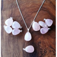 Health pendant - Rose Quartz