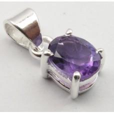 Amethyst pendant, oval