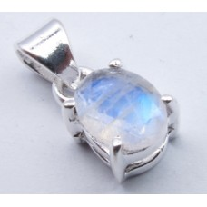 Rainbow Moonstone pendant, oval