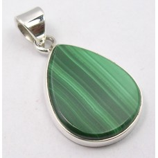 Malachite pendant, droplet