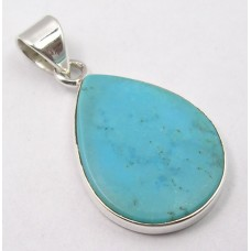 Turquoise pendant, droplet