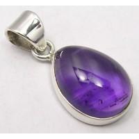 Amethyst pendant, droplet