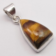 Tiger Eye pendant, triangle