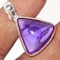 Amethyst pendant, triangle