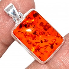 Amber pendant, rectangle
