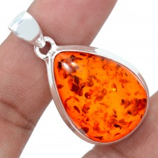 Amber pendant, droplet