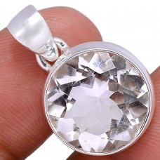 Clear Crystal pendant, round