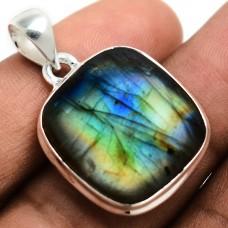 Labradorite pendant, Multi Color Labradorite