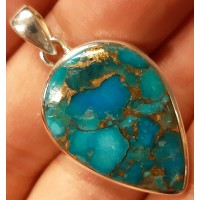 Turquoise pendant, Blue Copper Turquoise