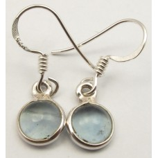 Apatite earrings, round