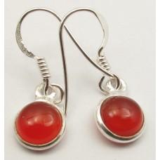 Carnelian earrings, round