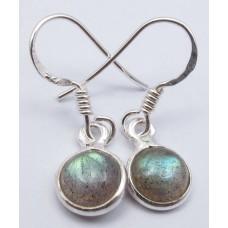 Labradorite earrings, round