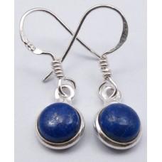 Lapis Lazuli earrings, round