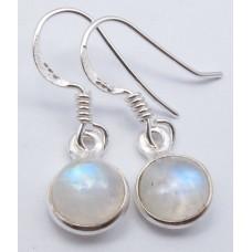 Rainbow Moonstone earrings, round