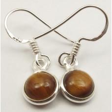 Tiger Eye earrings, round