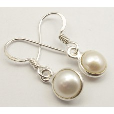 Sweetwater Pearl earrings, round