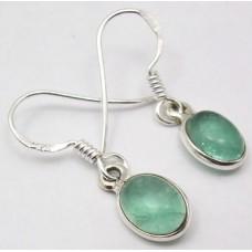 Apatite earrings, oval