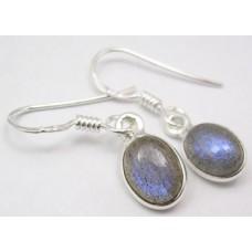 Labradorite earrings, oval