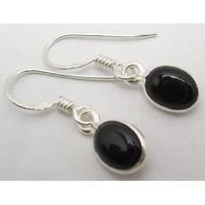 Black Onyx earrings, oval
