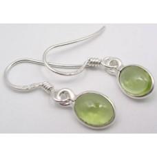 Peridot earrings, oval