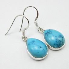 Turquoise earrings, droplet