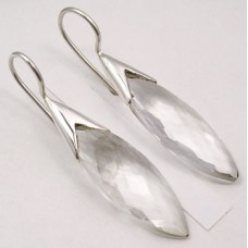 Clear Crystal earrings, marquise