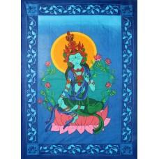 Green Tara tapestry