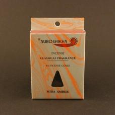 Auroshikha cones, Amber